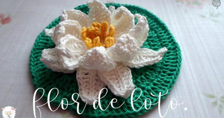Flor de loto a crochet | ENGLISH SUBTITLES
