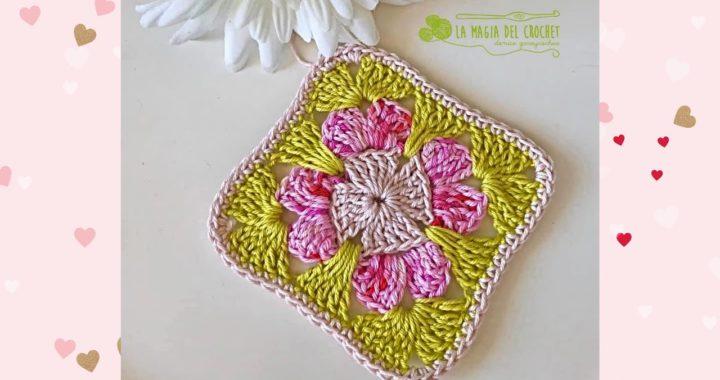 GRANNY FLORAL/cuadrado de la abuelita - La Magia del Crochet-