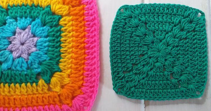 GRANNY SQUARE - Cuadrado de la Abuela a Crochet