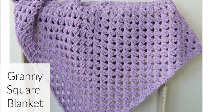 Giant Crochet Granny Square Blanket Tutorial