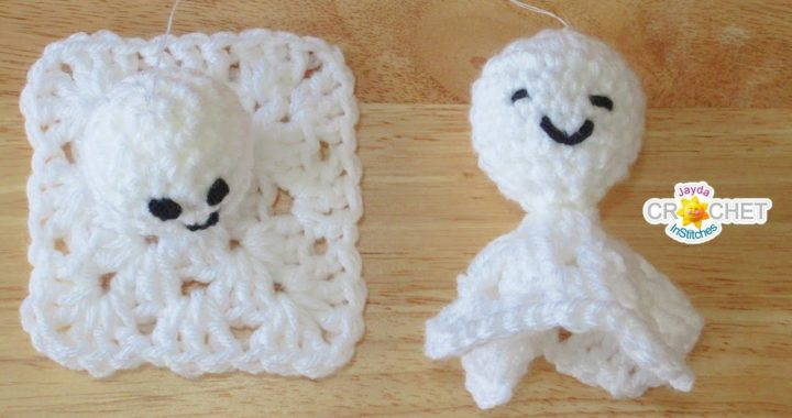 Granny Square Ghost - Crochet Pattern & Tutorial