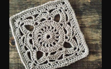 Granny square, Cuadro de la abuela a crochet
