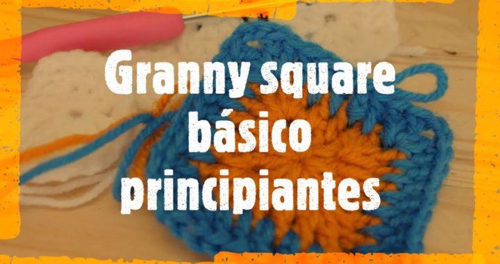 Granny square básico para principiantes   Crochet