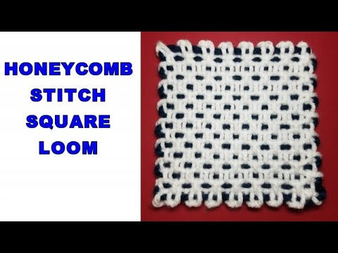 HONEYCOMB STITCH SQUARE LOOM COURSE | Stitch 05 | English Version