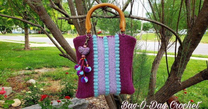 HOW TO CROCHET A FELT BAG | EASY CROCHET BAG | BAGODAY CROCHET TUTORIAL #486