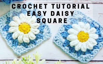 HOW TO CROCHET A QUICK DAISY GRANNY SQUARE - DAISY'S DREAM BY RADCROCHET