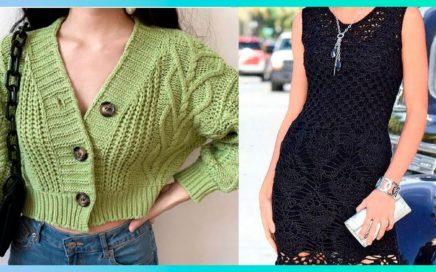 Hermosos vestidos tejidos a crochet