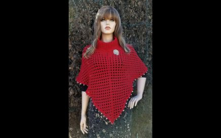 How To Crochet - PONCHO | Paint the Town Red LADIES PONCHO | BAG O DAY Crochet Tutorial #455