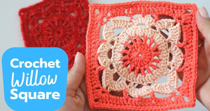 How To Crochet Willow Granny Square Easy Tutorial
