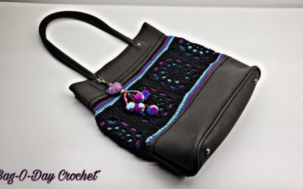How To Crochet a Handbag - Northern Lights | Hand Sewn | Crochet Purse TUTORIAL #531