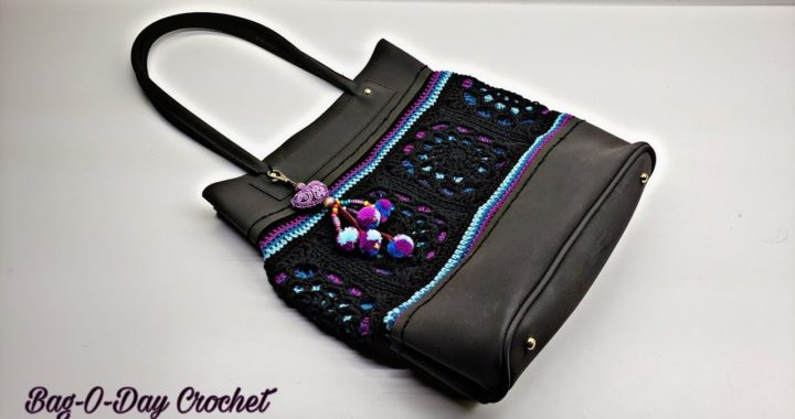 How To Crochet a Handbag - Northern Lights | Hand Sewn | Crochet Purse TUTORIAL #531