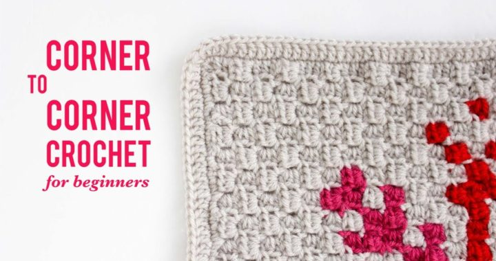 How to Corner-To-Corner Crochet (C2C) For Beginners Video Tutorial