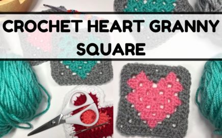 How to Crochet Heart Granny Square