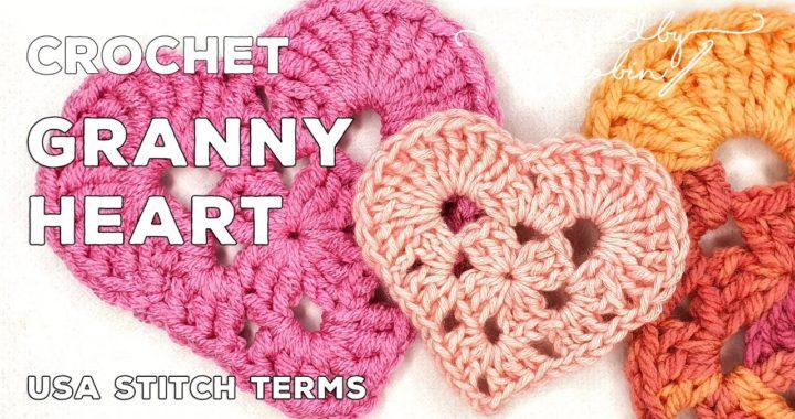 How to Crochet a Granny Heart Shape ❤ Great as a Coaster!