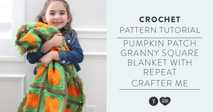 How to Crochet a Pumpkin Inspired Granny Square Afghan   With Repeat Crafter Me