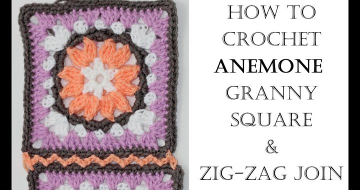How to Crochet and Join Anemone Granny Square