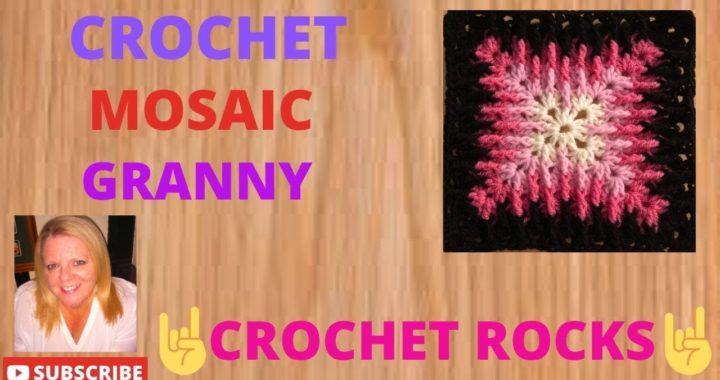 How to Crochet the Mosaic Granny Square | Crochet Rocks