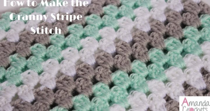 How to Make the Granny Stripe (Crochet 101 Series)