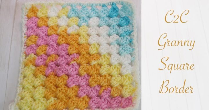 How to add a border to C2C Granny Squares