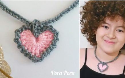 How to crochet Valentine heart necklace I Valentine Gift Idea