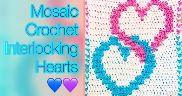 Interlocking Hearts Mosaic Crochet Trailer #shorts