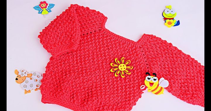 Jersey de niñ@ a crochet muy facil y rápido #crochet #ganchillo #majovelcrochet