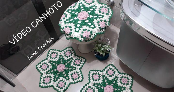 Jogo de banheiro fácil em crochê #LenaCrochês #crochê #square