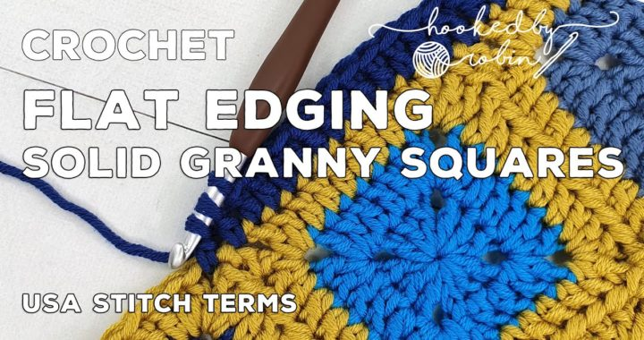 Keep Your SOLID Granny Squares Crochet Border Flat With no Ruffling | Easy Crochet Tip