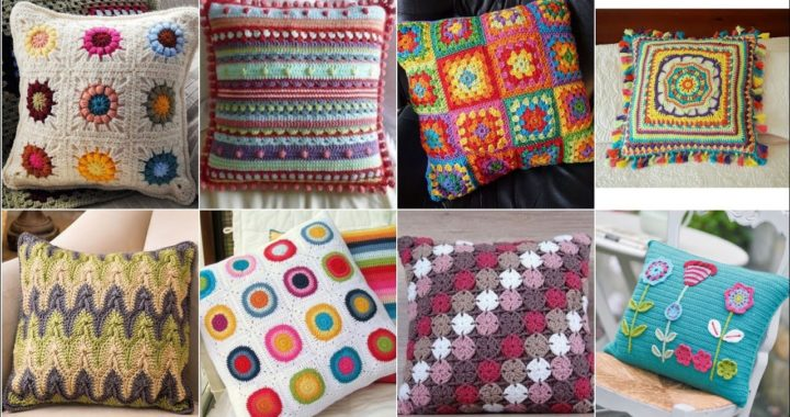 Latest and beautiful granny square ideas of crochet hand made cushions designs and pattern