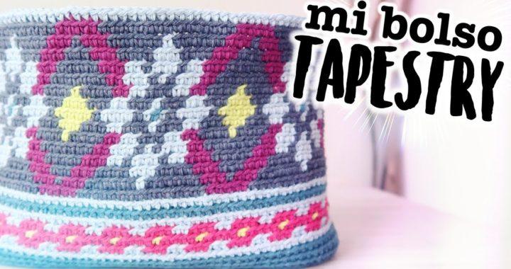 MI BOLSO TAPESTRY a CROCHET (NUEVO RETO 2019!) | Clase 3 | Ahuyama Crochet