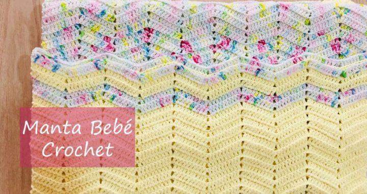 Manta Bebé tejida a Crochet Zig Zag ♥ Colcha Cochet ♥ Edredón