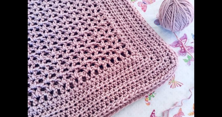 Manta a crochet ¡Fácil y rápida!