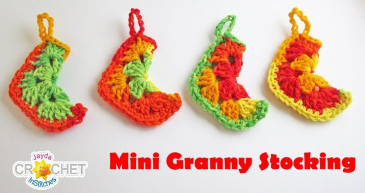 Mini Granny Square Christmas Stocking - Crochet Pattern & Tutorial