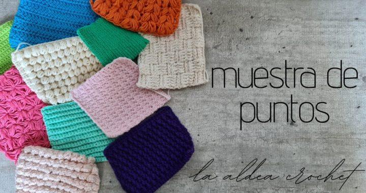 Muestra de puntos a crochet (ganchillo)