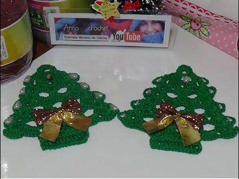 Pino en crochet paso a paso #Adorno #navideño