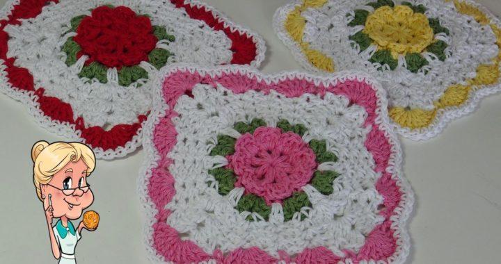 Pretty Posey Dishcloth - Crochet Tutorial -  #MakeitPremier