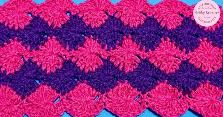 Punto Fantasia # 20 a crochet paso a paso (Versión Diestra)