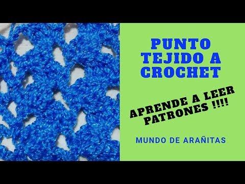 Punto a crochet 3 Aprende a leer patrones!!!