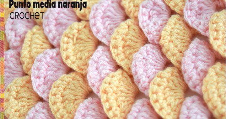 Punto media naranja tejido a crochet / Tejiendo Perú
