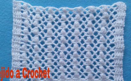 Puntos Tejidos a Crochet /Ganchillo Muestra #3 (Tutorial Paso a Paso)