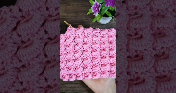 #Shorts Crochet design - mini  Curry puff stitch - Chompu Handicrafts