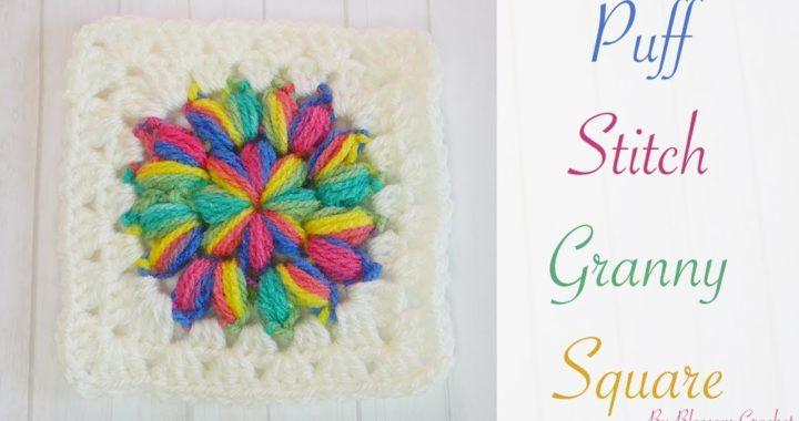 Simple Crochet: Puff Stitch Granny Squares
