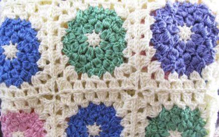Spring Afghan Granny Square Crochet Tutorial