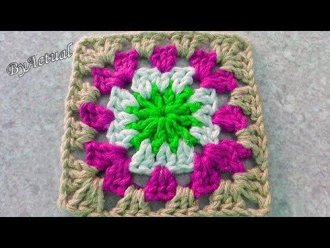 Square Quadradinho Fácil de Crochê CANHOTOS #ByActual