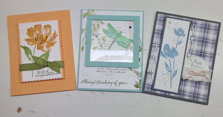 Stampin Up Dragonfly Garden,  Art Gallery & Suite Sampler February 2021 Club