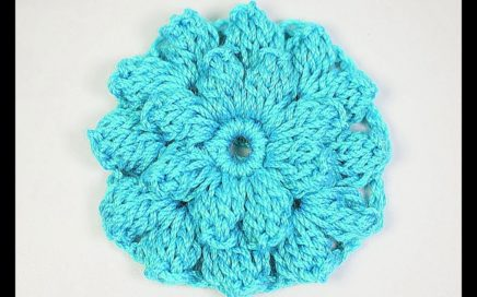 Stitch flowers crochet very easy and fast