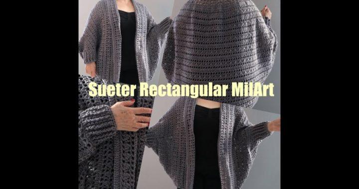 Sueter Rectangular Crochet