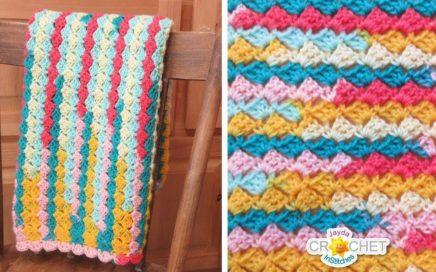 Sweet Welcome Baby Blanket using Lion Brand Ice Cream Big Scoop Yarn