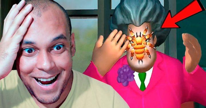 TORTUREI A PROFESSORA DO MAU COM UMA ARANHA ! - SCARY TEACHER 3D