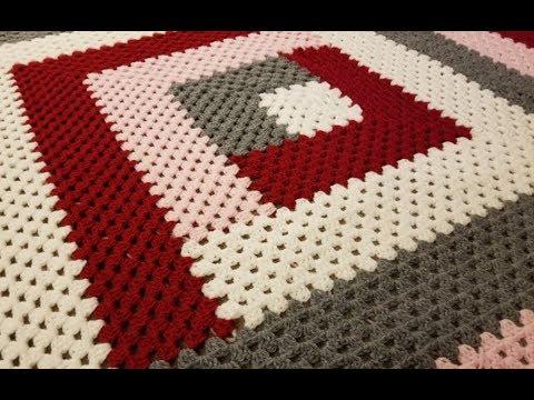 The Granny Log Cabin Blanket Crochet Tutorial!